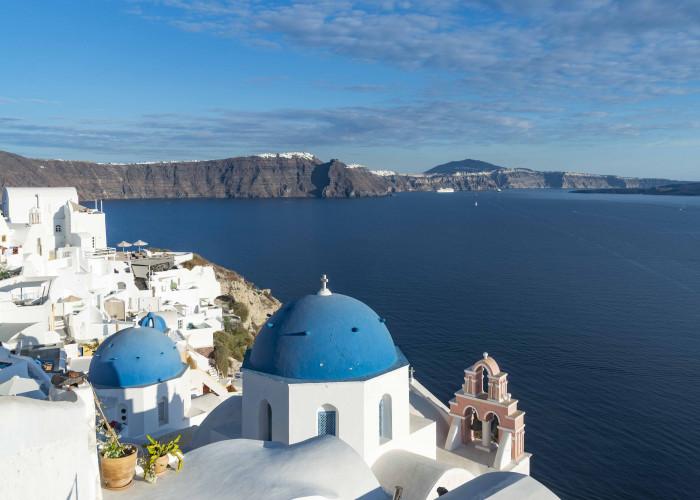 Blick von Oia aufs Mittelmeer