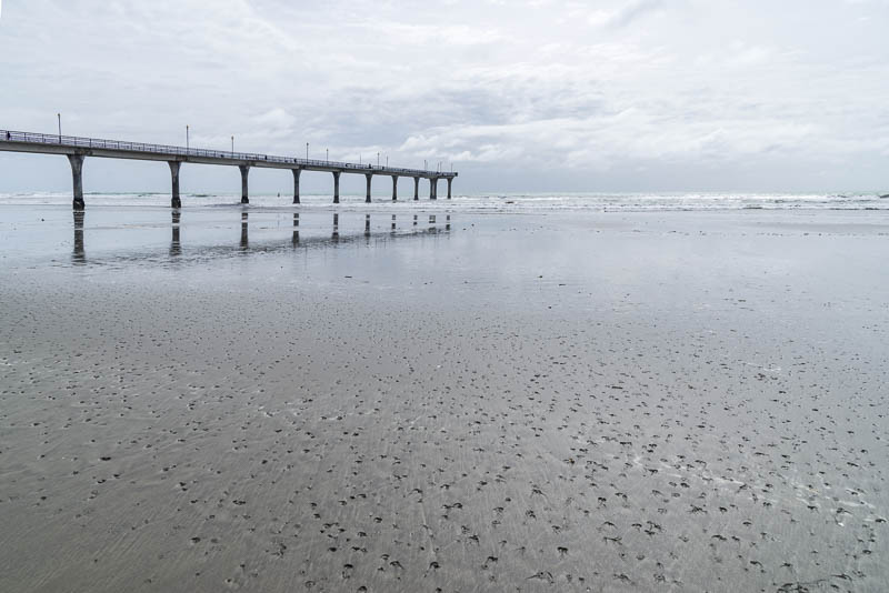 Strand in New Brighton Neuseeland