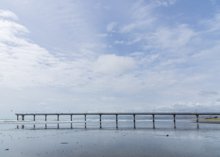 Pier in New Brighton Neuseeland