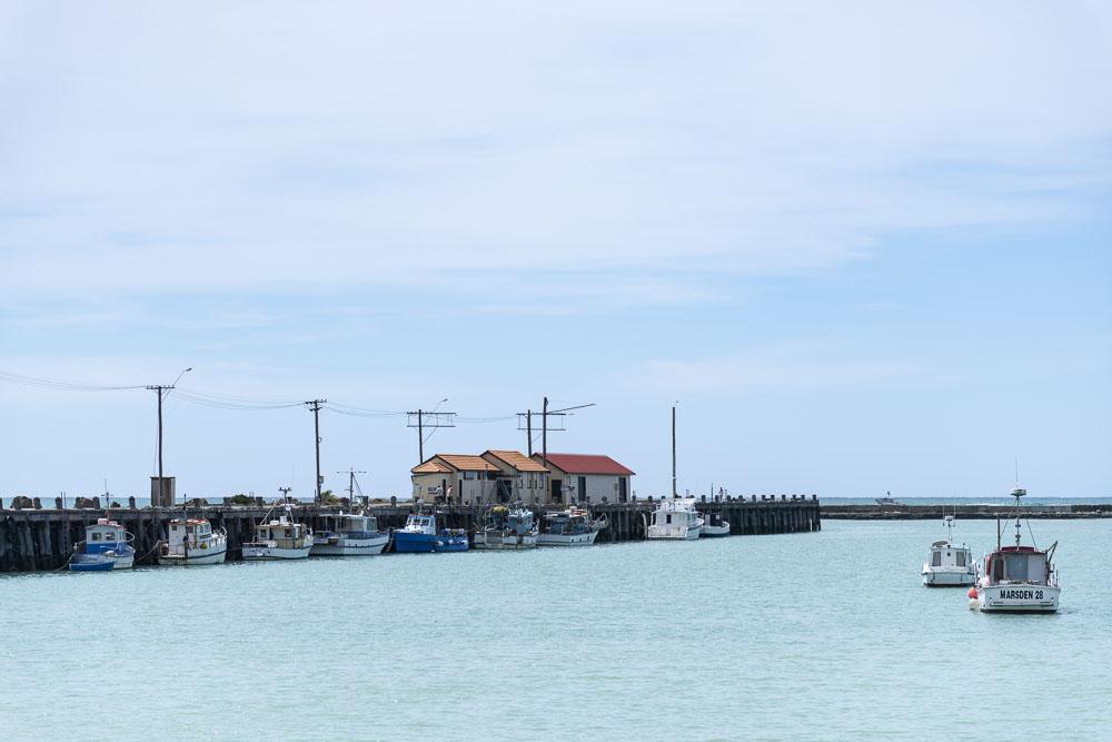 Hafen von Oamaru Neuseeland