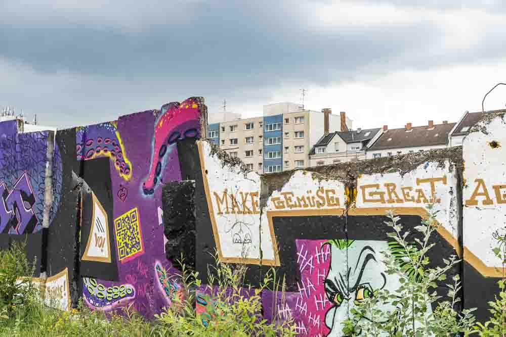 Graffiti im Hafen