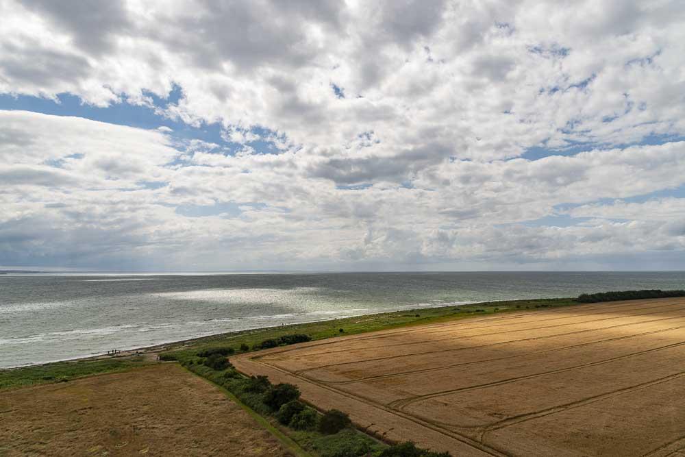 Ausblick vom Leuchtturm Flügge auf Fehmarn