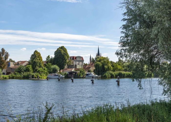 Die Altstatd von Werder liegt auf einer Insel in der Havel.