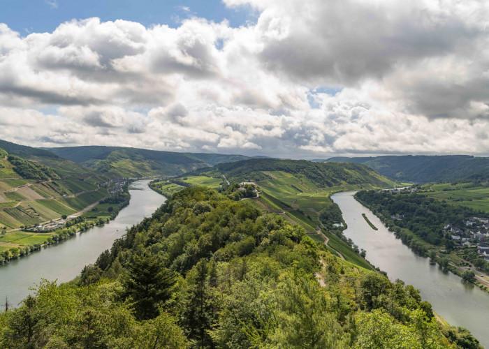 Moselschleife von der Marienburg Pünderich