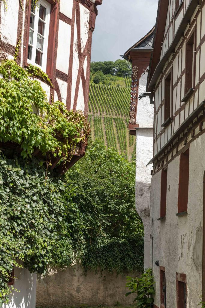 Fachwerkhäuser in Pünderich