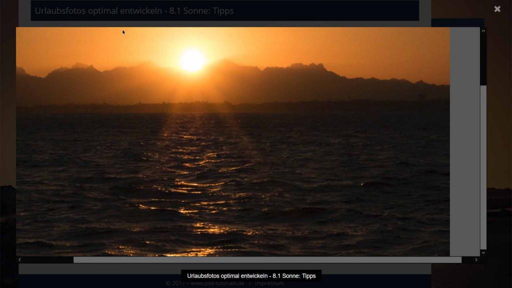 Videotraining Sonnenaufgang