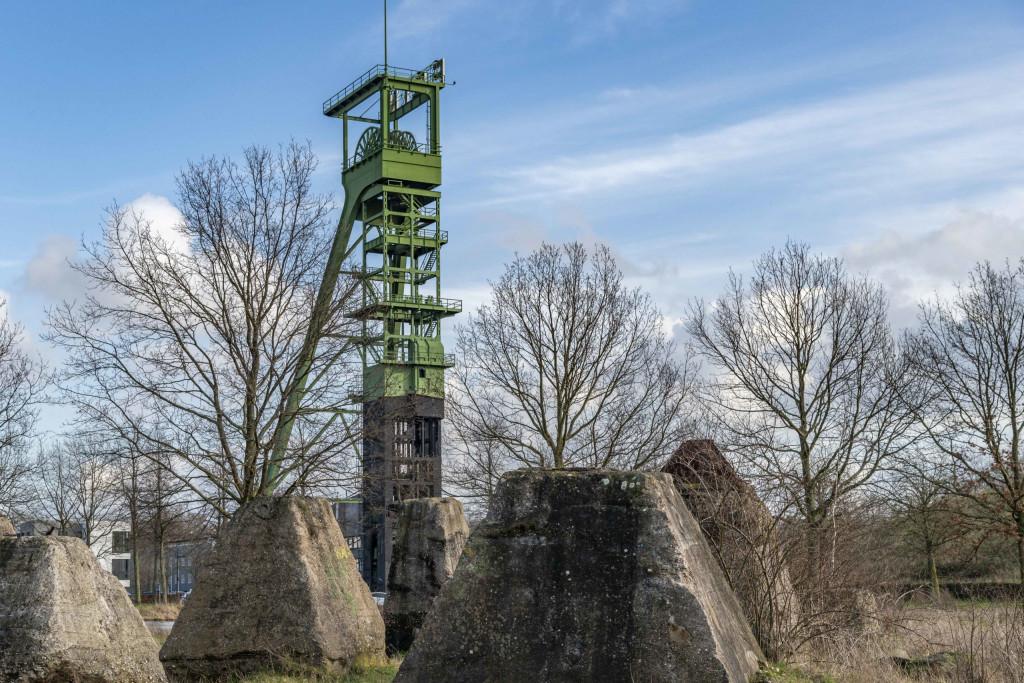 Fundamente als Überreste der Zeche Erin
