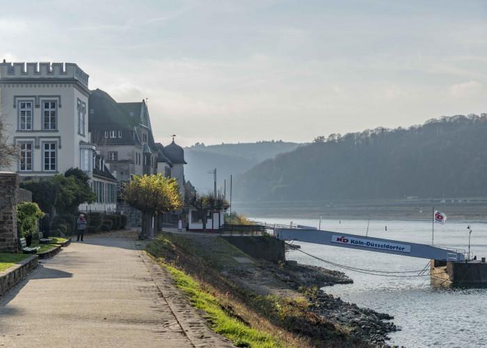 Rheinpromenade in Unkel