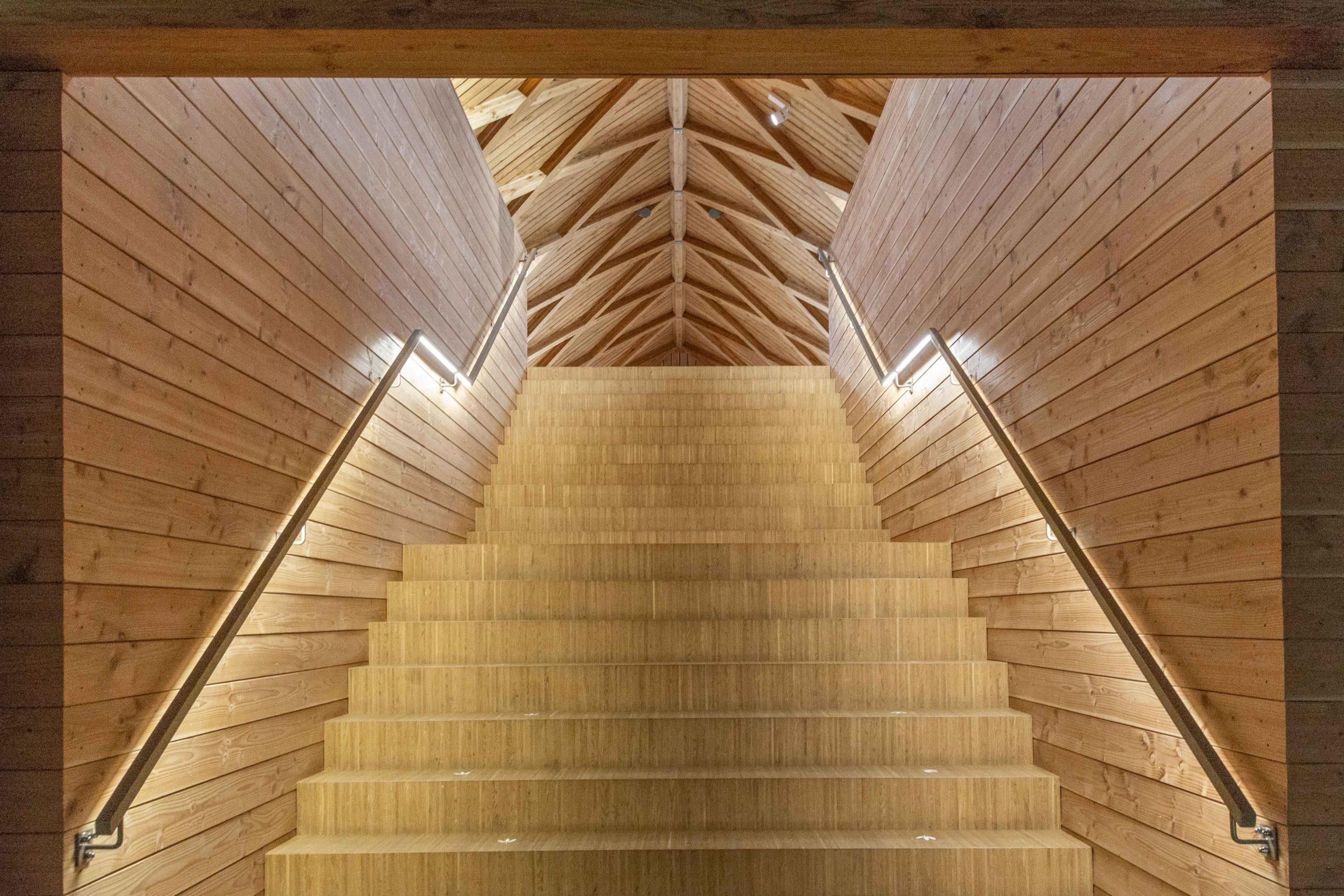 Treppenhaus im Biodiversum