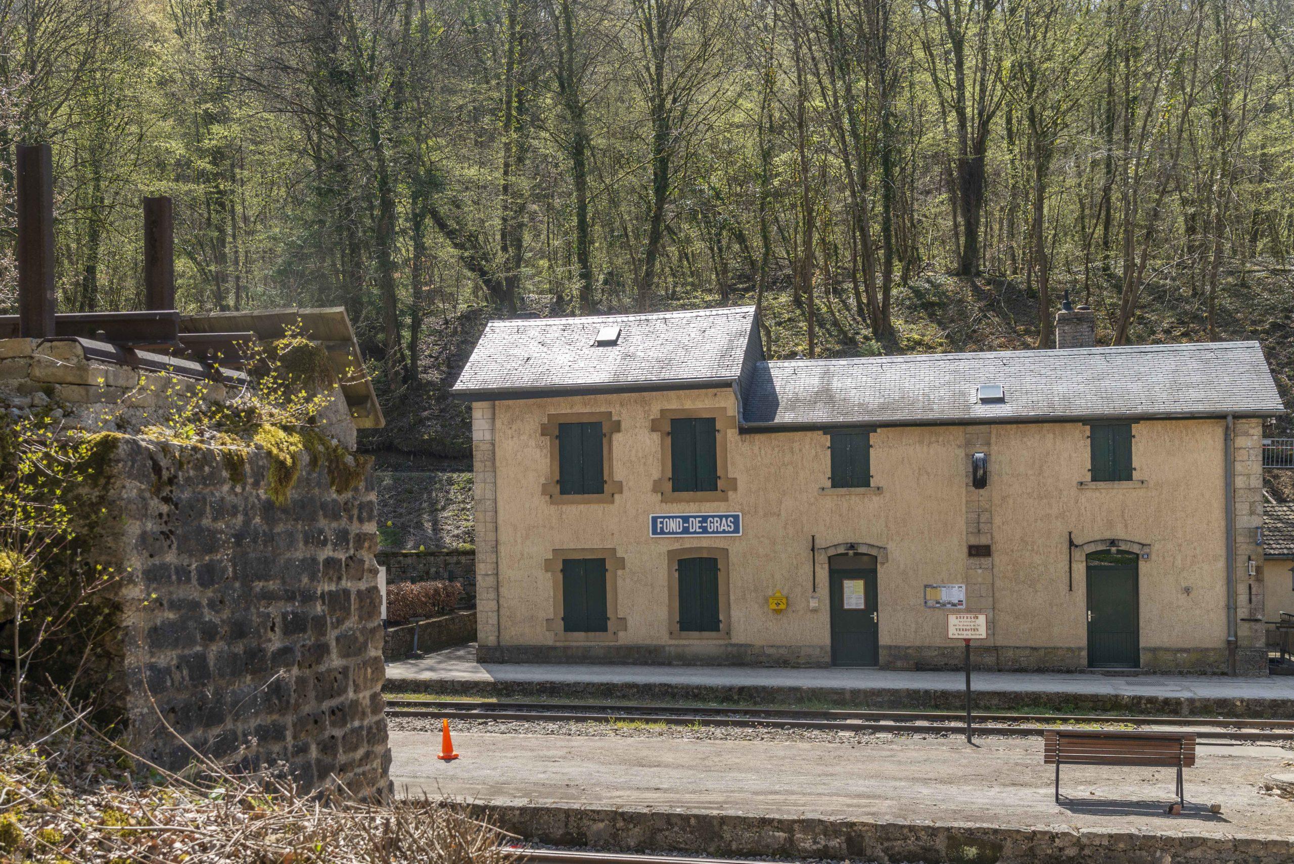 alter Bahnhof in Fond-de-Gras Luxemburg