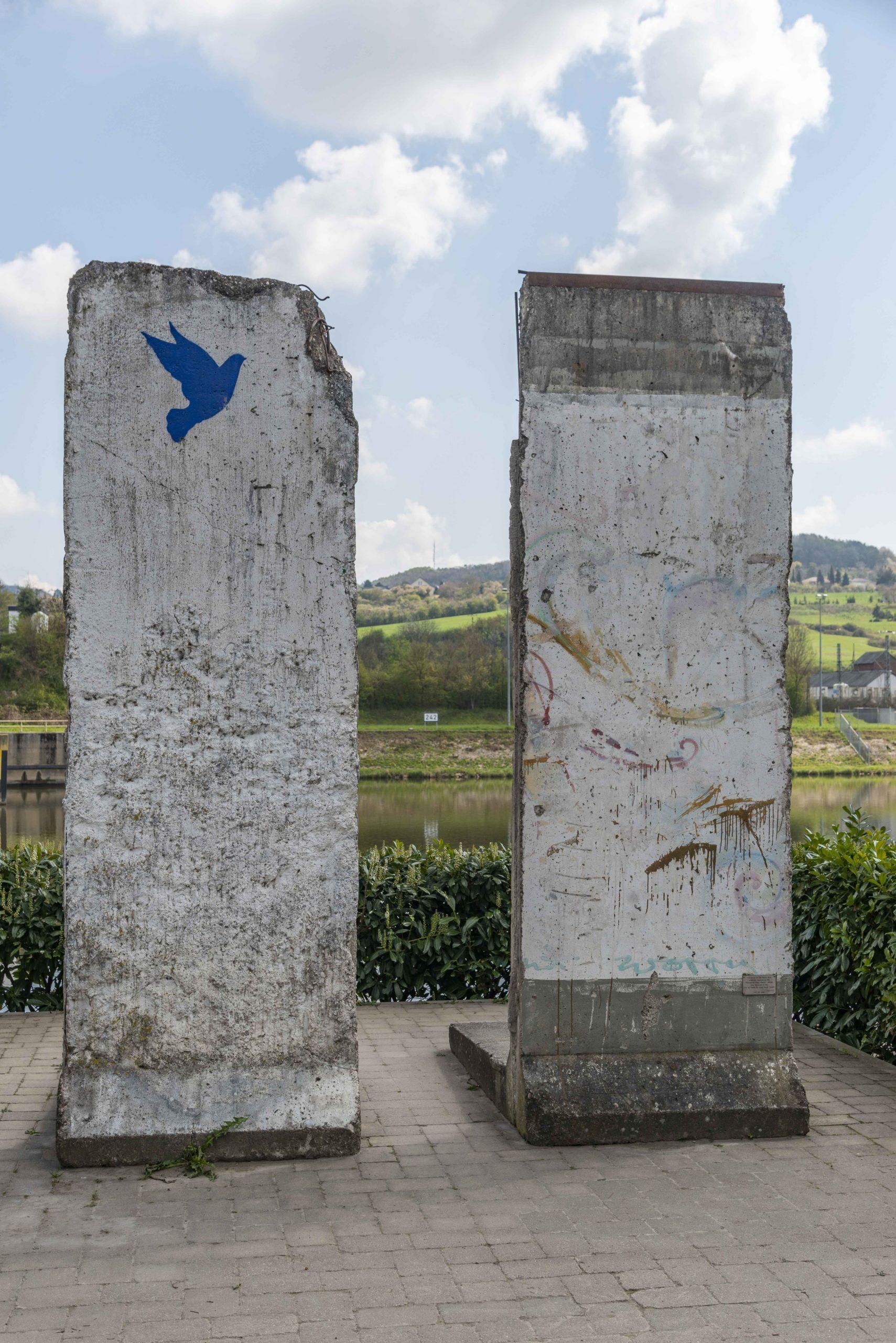 Teile der Berliner Mauer in Schengen