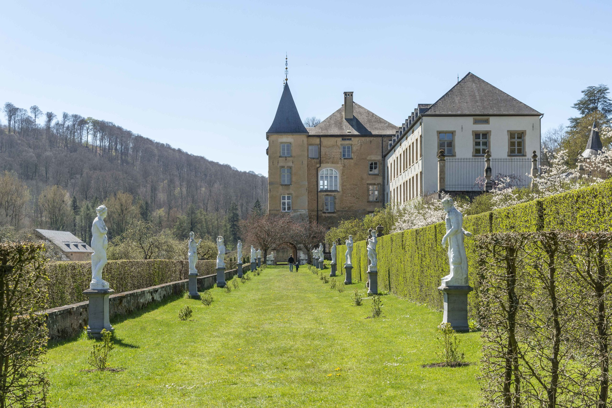 Schlossgarten in Ansembourg