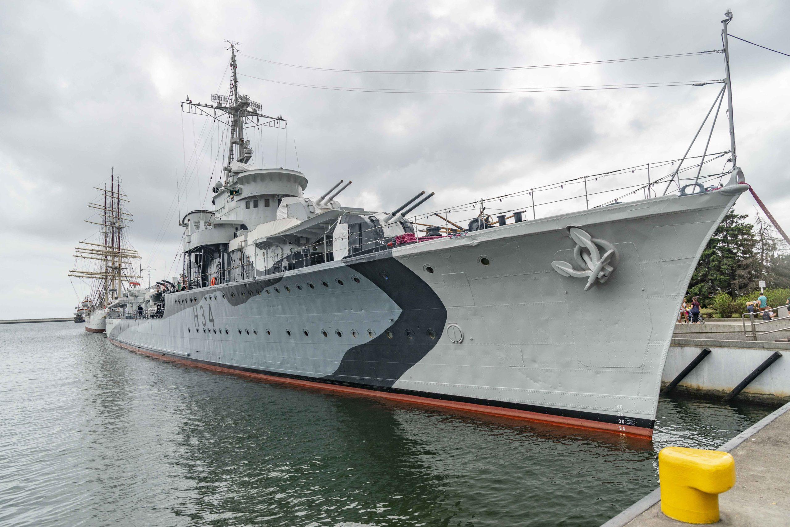 Museumsschiffe im Hafen von Gdynia