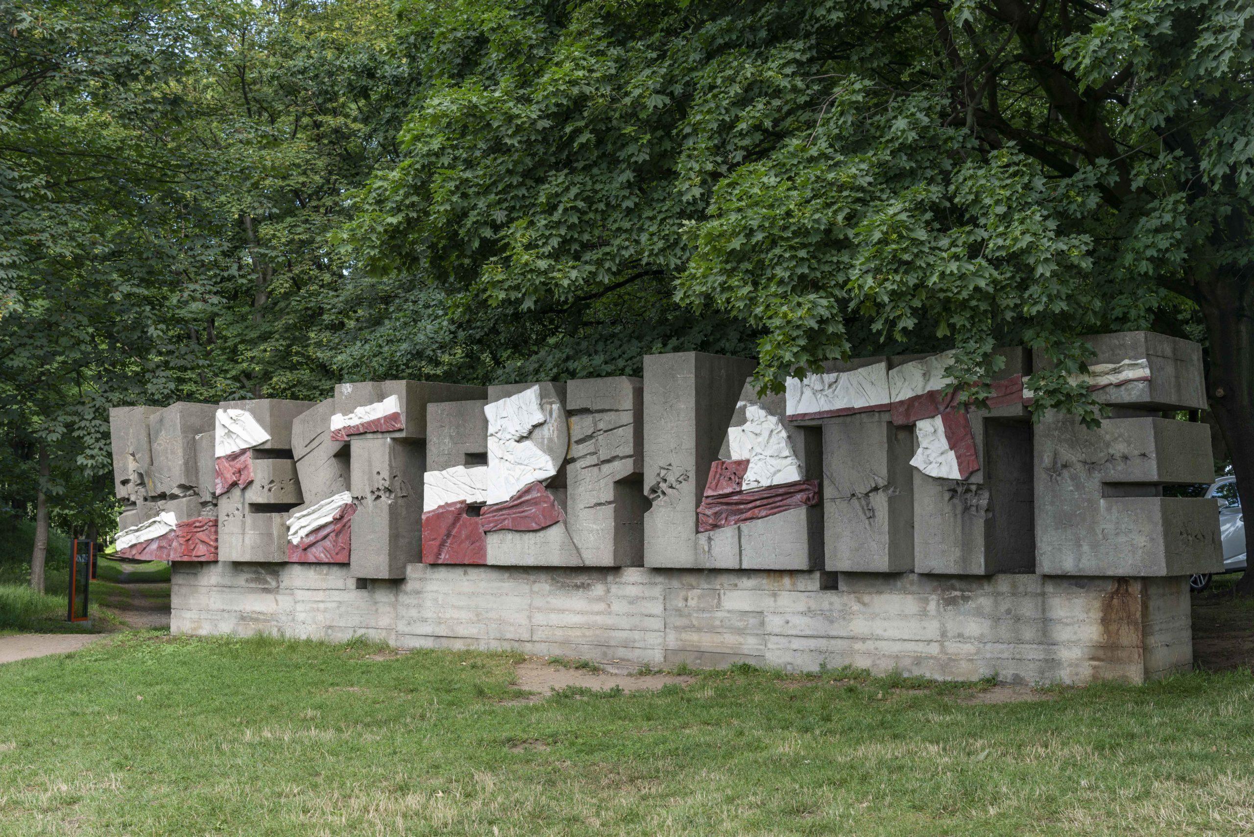 Schriftzug Westerplatte
