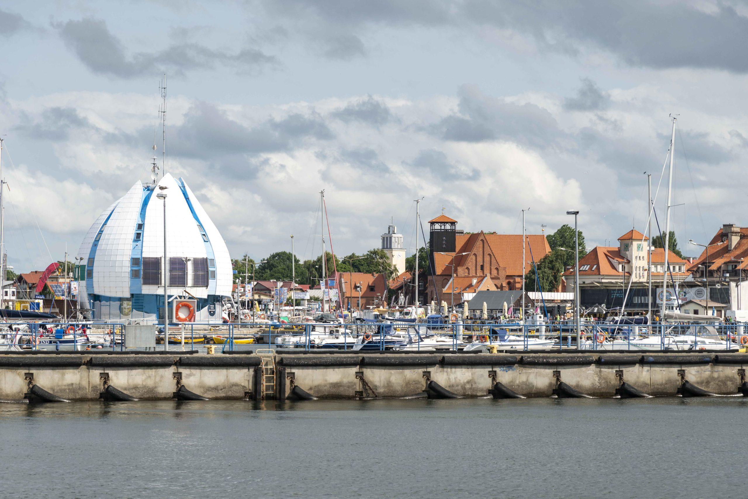 Halbinsel Hel Hafeneinfahrt