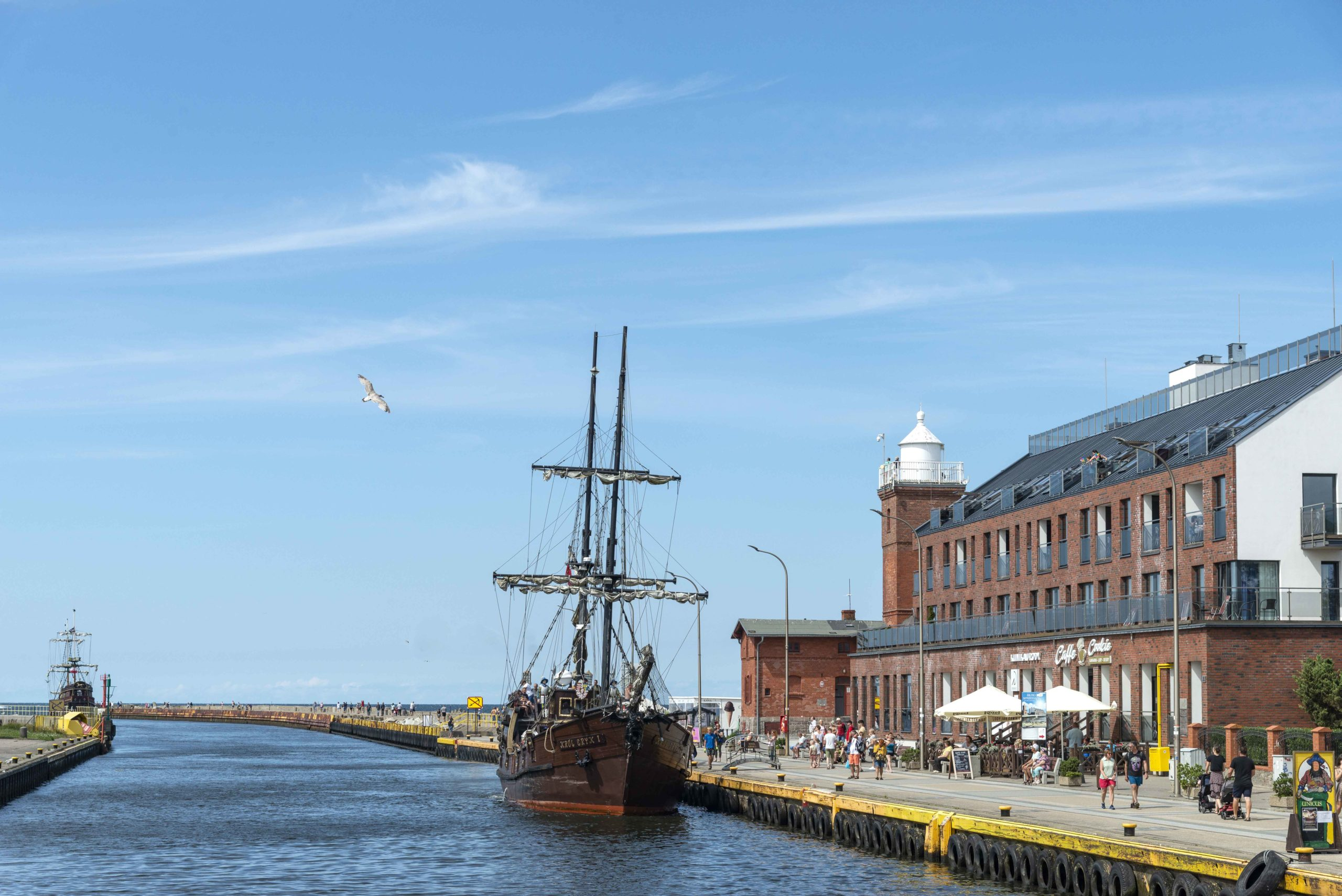 Darlowko an der Ostsee